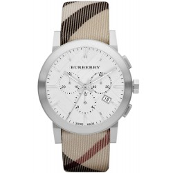 Burberry Men's Watch The City Nova Check BU9357 Chronograph