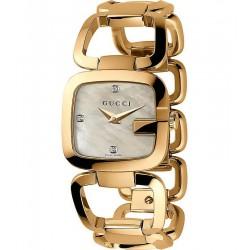 Gucci YA125513 G-Gucci Small Gold PVD Diamonds Mother of Pearl Quartz Women's Watch