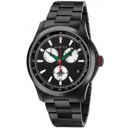 Gucci YA126268 G-Timeless Extra Large Black PVD Chronograph Quartz Men's Watch