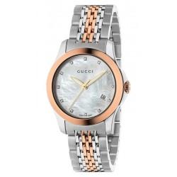 Gucci Women's Watch YA126514 G-Timeless Small Diamonds Mother of Pearl
