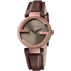 Gucci YA133309 Interlocking Large Brown PVD Quartz Women's Watch