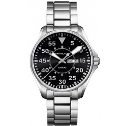 Hamilton Men's Watch Khaki Aviation Pilot Day Date Quartz H64611135