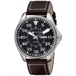 Hamilton Men's Watch Khaki Aviation Pilot Day Date Quartz H64611535