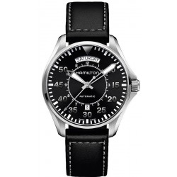 Hamilton Men's Watch Khaki Aviation Pilot Day Date Auto H64615735
