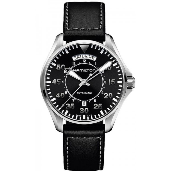Buy Hamilton Men's Watch Khaki Aviation Pilot Day Date Auto H64615735