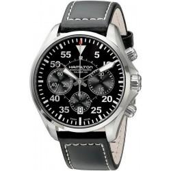 Hamilton Men's Watch Khaki Aviation Pilot Auto Chrono H64666735