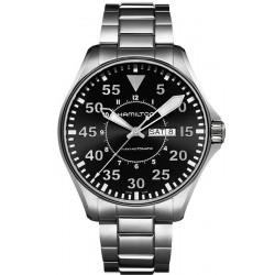 Hamilton Men's Watch Khaki Aviation Pilot Day Date Auto H64715135