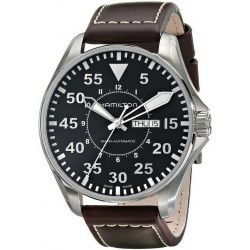 Hamilton Men's Watch Khaki Aviation Pilot Day Date Auto H64715535