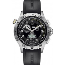 Hamilton Men's Watch Khaki Aviation Worldtimer Chrono Quartz H76714335