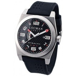 Locman Men's Watch Stealth Dual Time Quartz 020000CBFRD1GOK