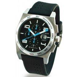 Locman Men's Watch Stealth Quartz Chronograph 020900ABKWHSSIK