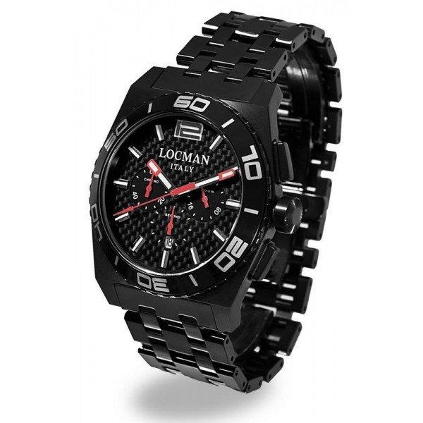 Buy Locman 0212BKKA-CBKBRK Stealth Chronograph Quartz Men's Watch