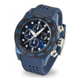 Locman Men's Watch Stealth 300MT Quartz Chronograph 0217V4-BKBLNKS2B