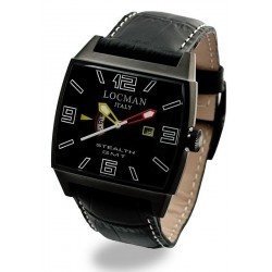 Locman Men's Watch Stealth GMT Dual Time Quartz 0300BKBKFYLRPSK