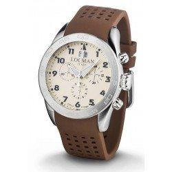 Locman 0460A04-00AVBKSN Isola d'Elba Chronograph Quartz Men's Watch