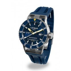 Buy Locman Men's Watch Montecristo Professional Diver Automatic 051300BYBLNKSIB