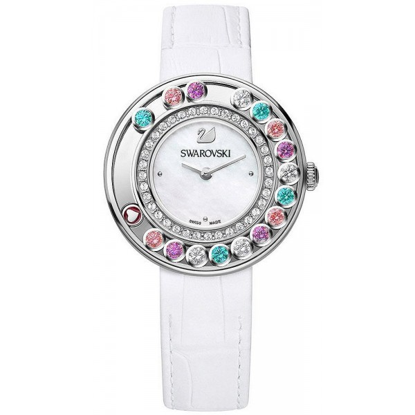 Buy Swarovski 5183955 New Lovely Crystals Multi-Colored Mother of Pearl Women's Watch