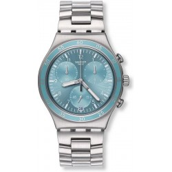 Swatch Unisex Watch Irony Chrono Clear Water YCS589G