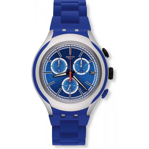 Buy Swatch Men's Watch Irony Xlite Blue Attack YYS4017AG Chronograph