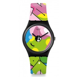 Swatch Women's Watch Gent Image Of Graffiti GB317