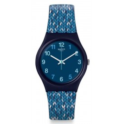 Swatch Women's Watch Gent Trico'Blue GN259