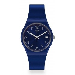 Swatch Unisex Watch Gent Silver In Blue GN416