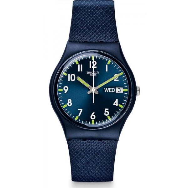 Buy Swatch Unisex Watch Gent Sir Blue GN718