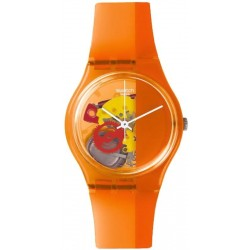 Swatch Unisex Watch Gent Bloody Orange GO116