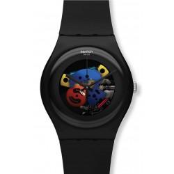 Swatch SUOB101 Originals New Gent Black Lacquered Unisex Watch