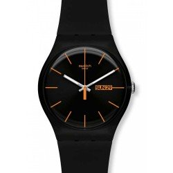 Swatch Unisex Watch New Gent Dark Rebel SUOB704