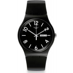 Swatch Unisex Watch New Gent Backup Black SUOB715