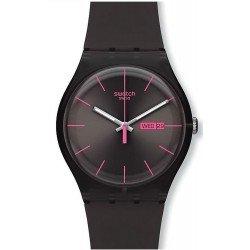 Swatch Unisex Watch New Gent Brown Rebel SUOC700