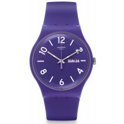 Swatch Unisex Watch New Gent Backup Purple SUOV703