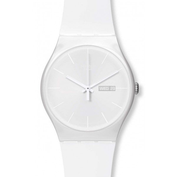 Buy Swatch Unisex Watch New Gent White Rebel SUOW701