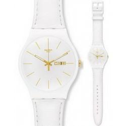 Swatch SUOW703 Originals New Gent White Character Unisex Watch