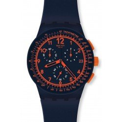 Swatch Unisex Watch Chrono Plastic Rebirth Blue SUSN401