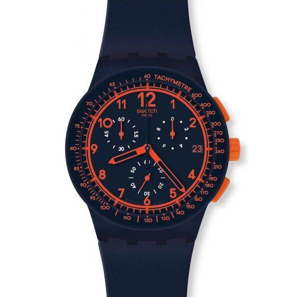 Buy Swatch Unisex Watch Chrono Plastic Rebirth Blue SUSN401