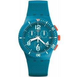 Swatch Unisex Watch Chrono Plastic Patmos SUSN406