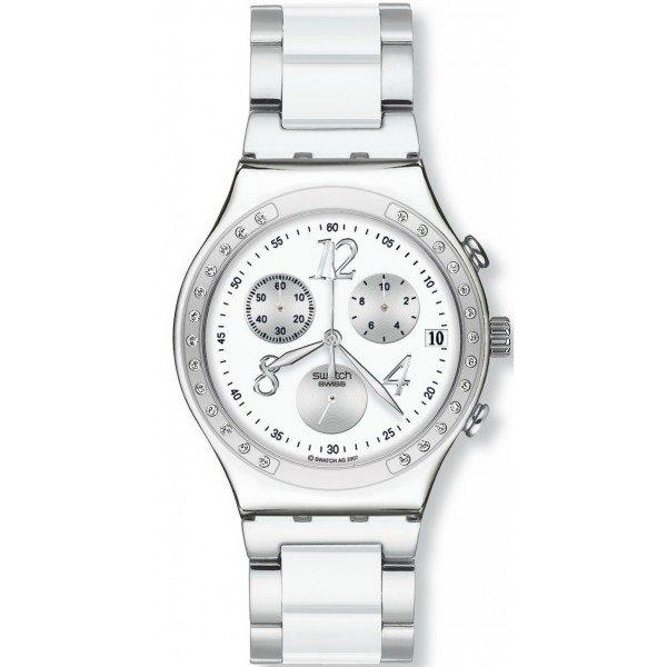 Buy Swatch Unisex Watch Irony Chrono Dreamwhite YCS511GC