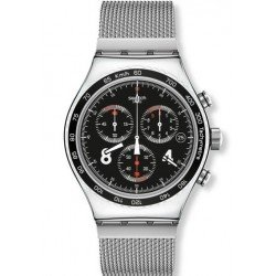 Swatch Men's Watch Irony Chrono Blackie YVS401G