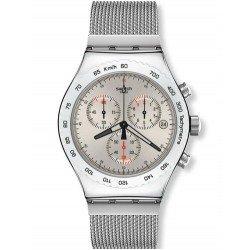 Swatch YVS405G Irony Chrono Silverish Chronograph Men's Watch