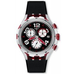 Swatch YYS4004 Irony Xlite Chrono Red Wheel Chronograph Men's Watch