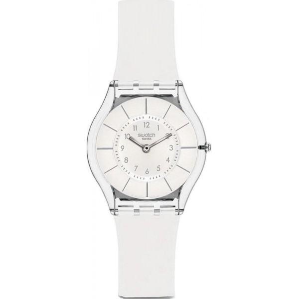 Buy Swatch Women's Watch Skin Classic White Classiness SFK360