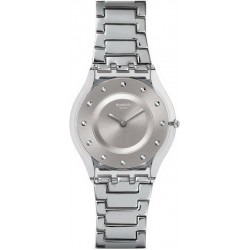 Swatch Women's Watch Skin Classic Silver Drawer SFK393G