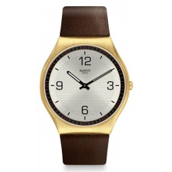 Swatch Men's Watch Skin Irony Skin Suit Coffee SS07G100