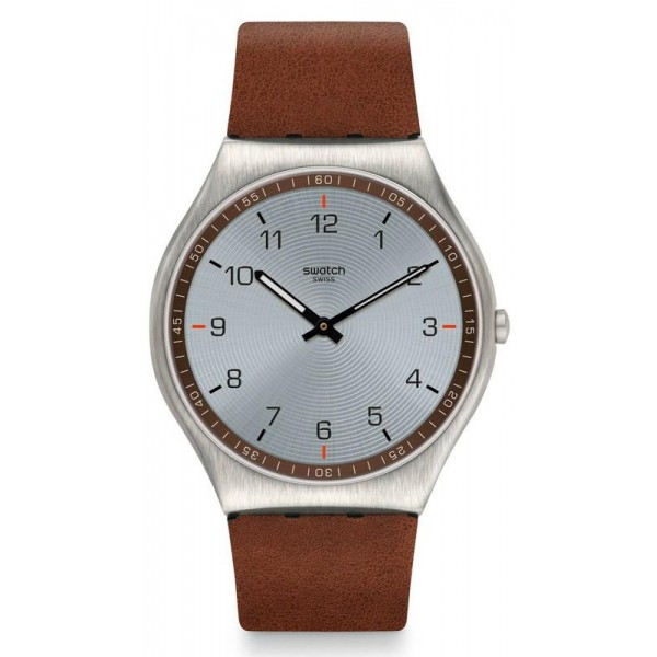 Buy Swatch Mens Watch Skin Irony Skin Suit Brown SS07S108