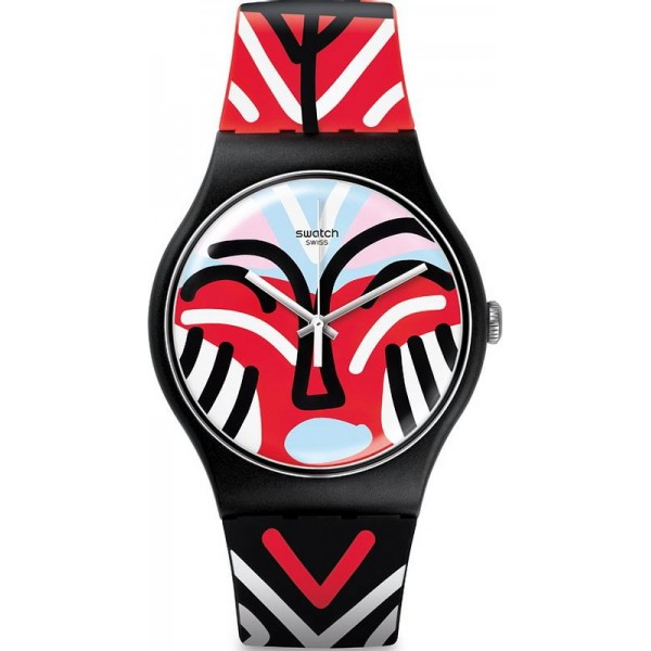 Buy Swatch Unisex Watch New Gent Mask Parade SUOB127