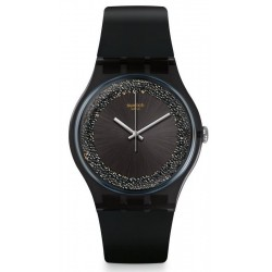 Swatch Women's Watch New Gent Darksparkles SUOB156