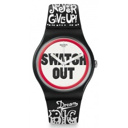 Swatch Unisex Watch New Gent Swatch Out SUOB160
