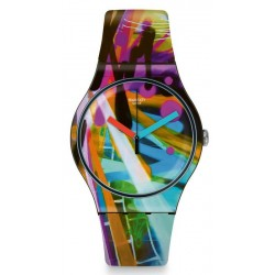 Swatch Unisex Watch New Gent City Walls SUOB163